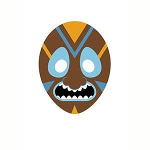 Maschera di Africana da stampare