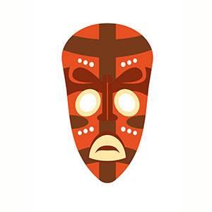 Maschera di Africano da stampare