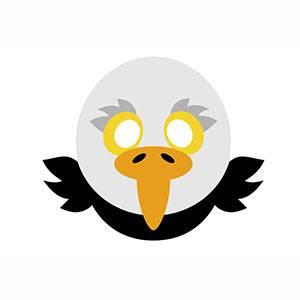 Maschera di Aquila da stampare