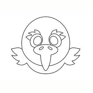 Maschera di Aquila per colorare