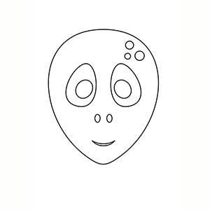Maschera di Alleino per colorare