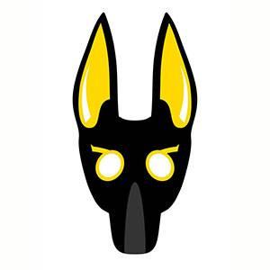 Maschera di Anubis da stampare