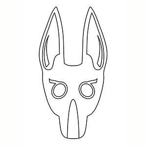 Maschera di Anubis per colorare
