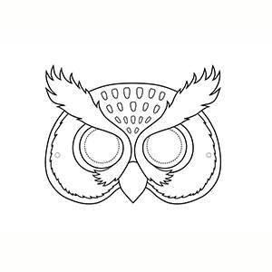 Maschera di Gufo per colorare
