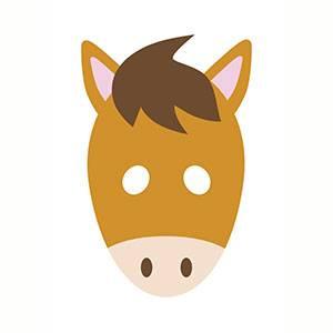 Maschera di Cavallo da stampare