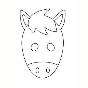 Maschera di Cavallo per colorare