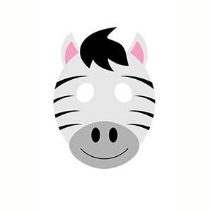 Maschera di Zebra da stampare
