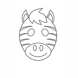 Maschera di Zebra per colorare