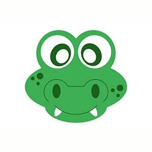 Maschera di Coccodrillo da stampare