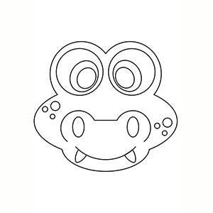 Maschera di Coccodrillo per colorare