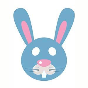 Maschera di Coniglietto da stampare