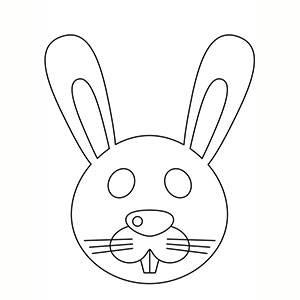 Maschera di Coniglietto per colorare