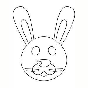 Maschera di Coniglio per colorare