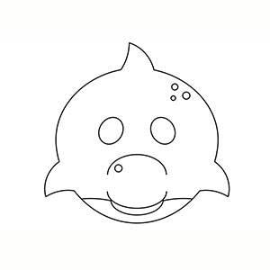 Maschera di Delfino per colorare