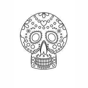 Maschera di Giorno Dei Morti per colorare