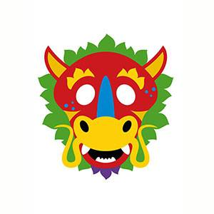 Maschera di Drago Cinese da stampare