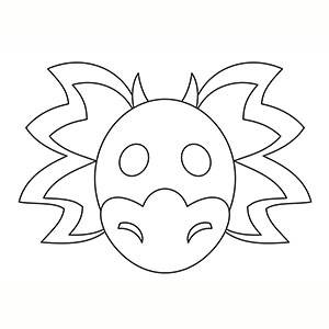 Maschera di Drago Cinese per colorare