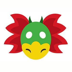 Maschera di Drago da stampare