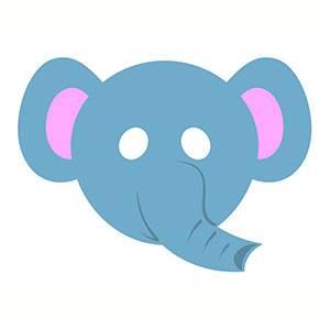 Maschera di Elefante da stampare