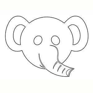 Maschera di Elefante per colorare