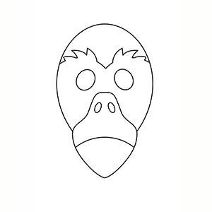Maschera di Fenicottero per colorare