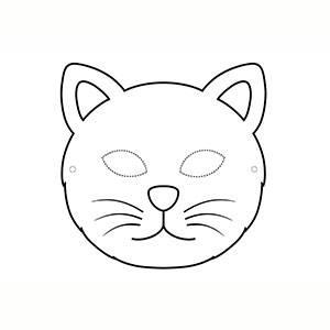 Maschera di Gatto per colorare