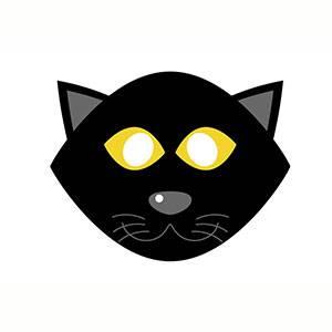 Maschera di Gatto da stampare