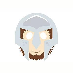 Maschera di Gladiatore da stampare