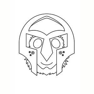 Maschera di Gladiatore per colorare
