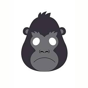 Maschera di Gorilla da stampare