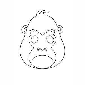 Maschera di Gorilla per colorare