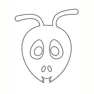 Maschera di Formica per colorare