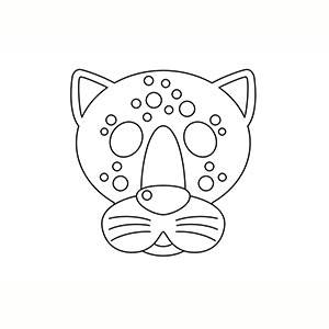Maschera di Giaguaro per colorare