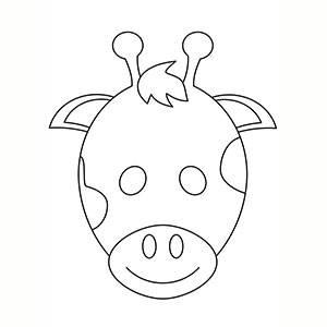 Maschera di Giraffa per colorare