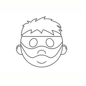 Maschera di Ladro per colorare