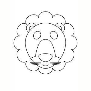Maschera di Leone per colorare