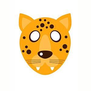 Maschera di Leopardo da stampare