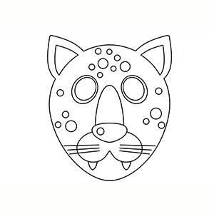 Maschera di Leopardo per colorare