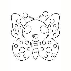 Maschera di Farfalla per colorare