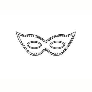 Maschera di Maschera Di Carnevale per colorare