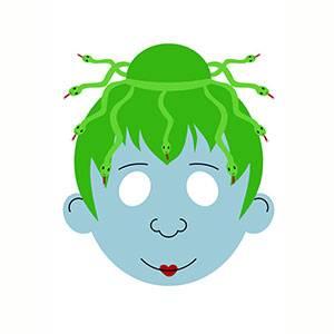 Maschera di Medusa da stampare