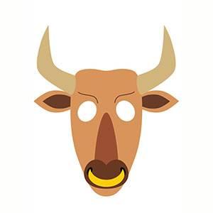 Maschera di Minotauro da stampare
