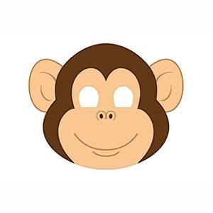 Maschera di Scimmia da stampare