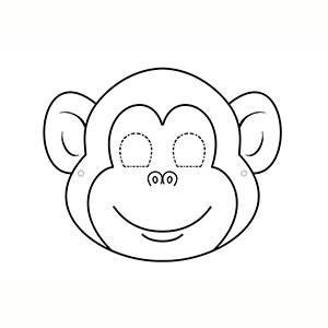 Maschera di Scimmia per colorare