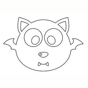 Maschera di Pipistrello per colorare