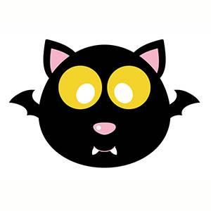 Maschera di Pipistrello da stampare