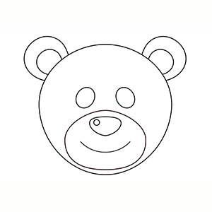 Maschera di Orso per colorare