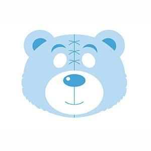 Maschera di Orso da stampare