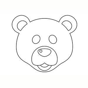 Maschera di Orso Polare per colorare