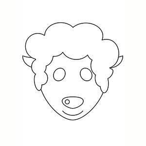 Maschera di Pecorelle per colorare